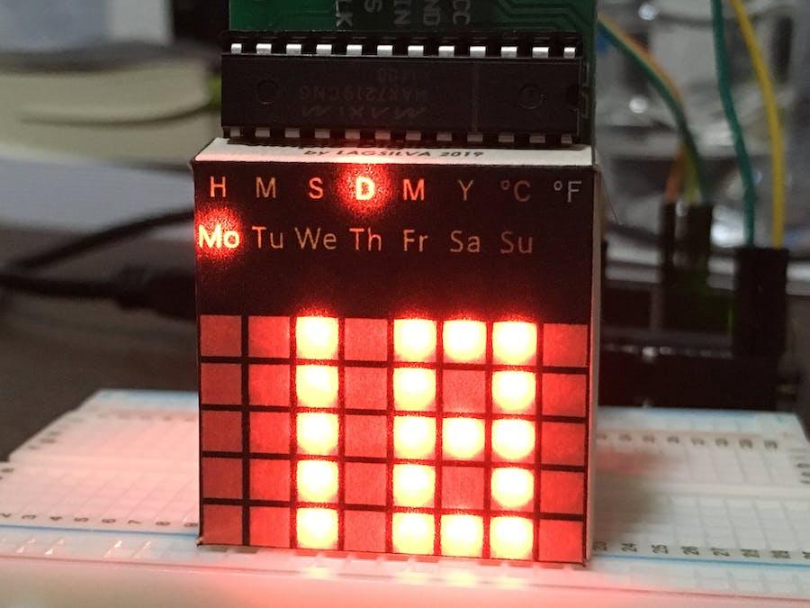 Simple Clock with LED Matrix - Arduino Project Hub