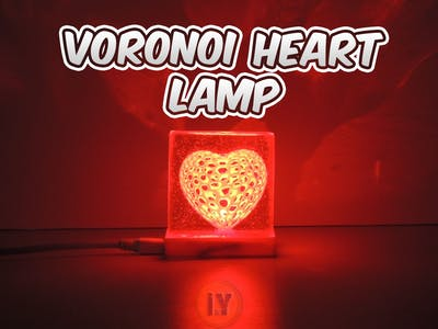 Voronoi Heart Lamp