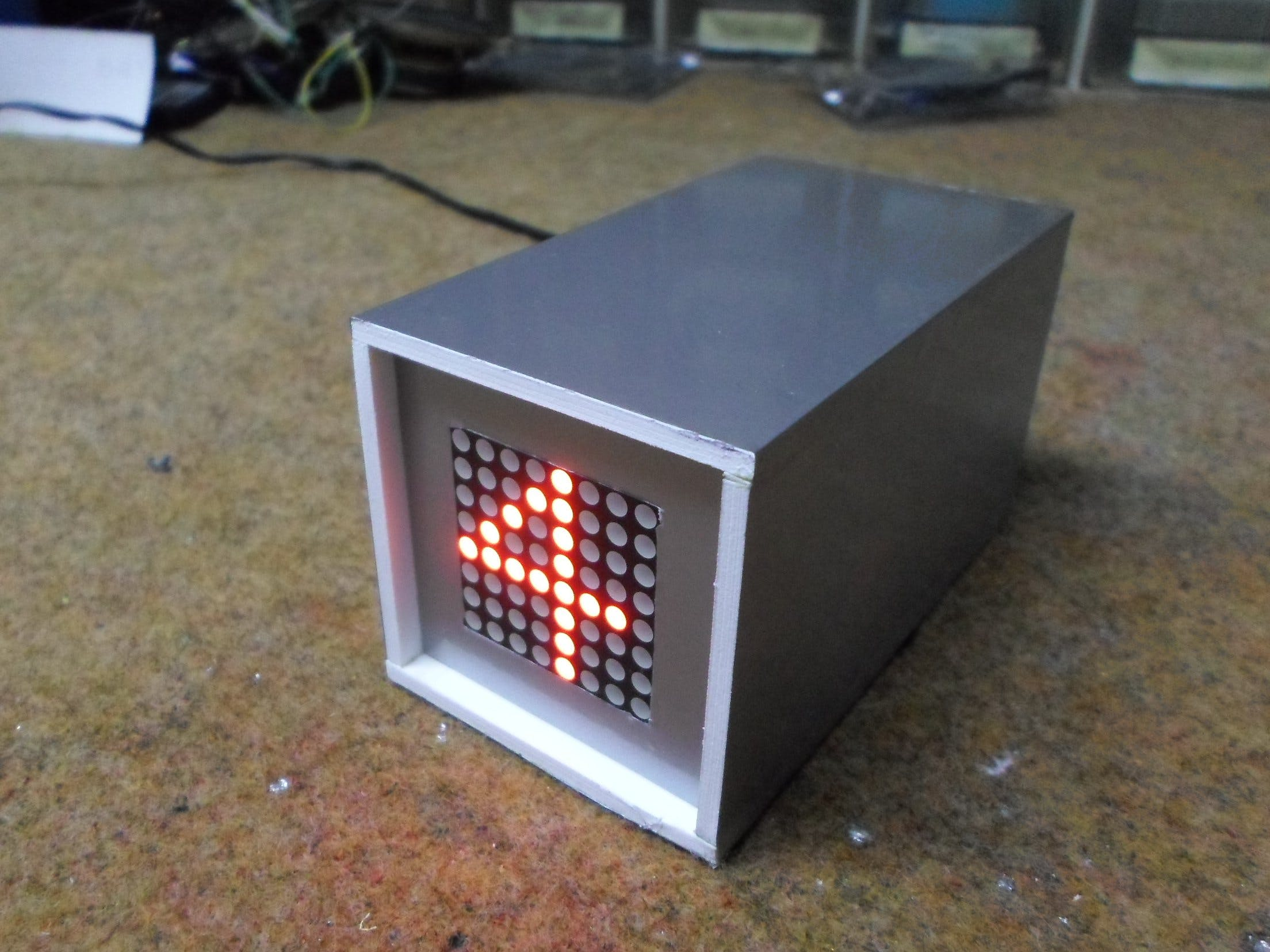 Single LED Matrix Arduino Flip Clock