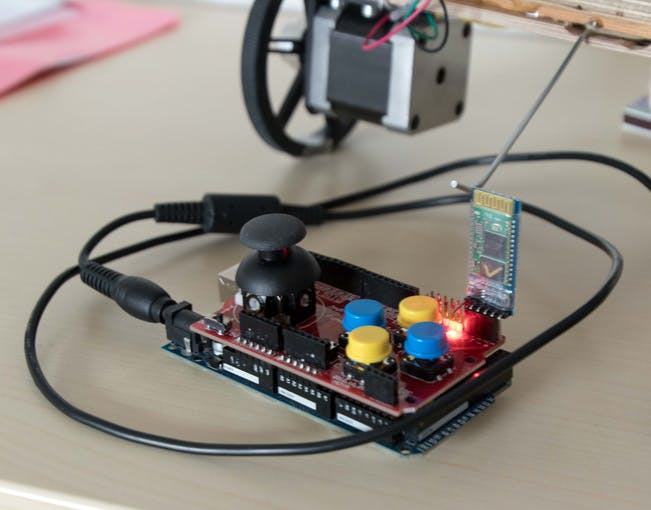Joystick Shield with Arduino Mega