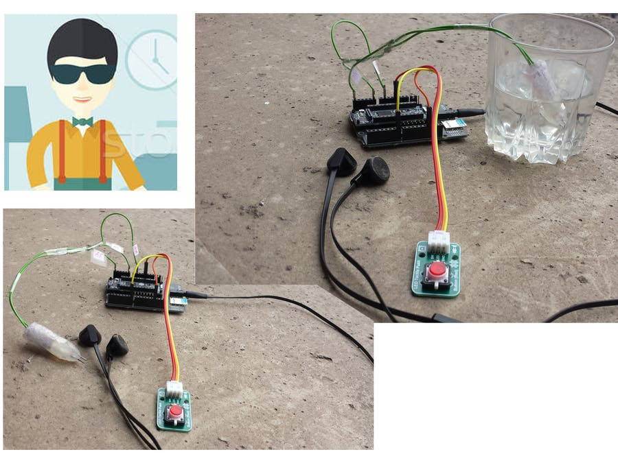 Water Purification Level Testing Device for Blind Person