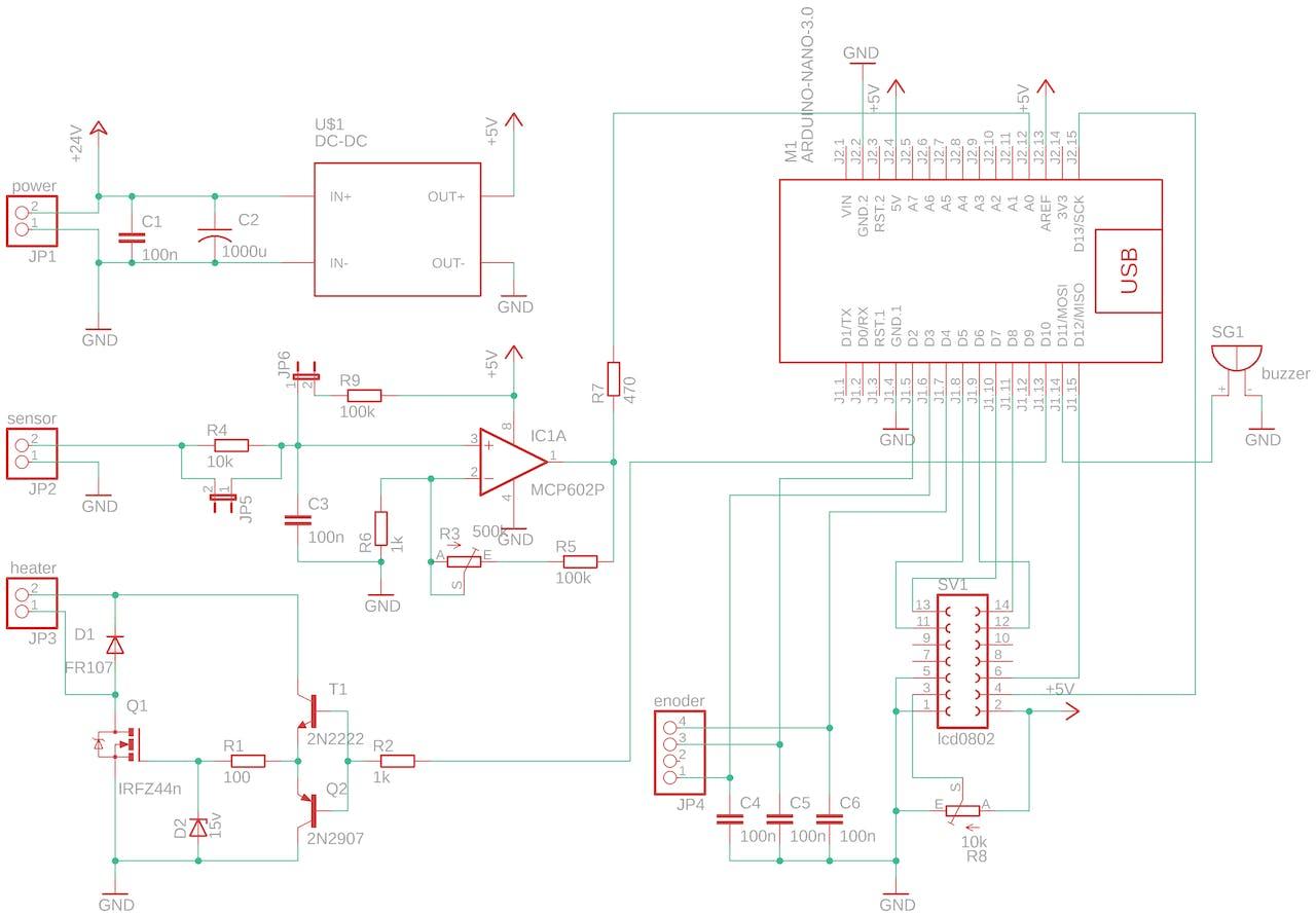 Soldering Iron Controller for Hakko 907 v.2 - ster.io on