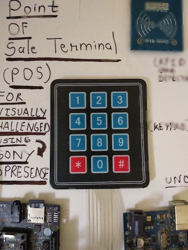 4*3 Keypad Connected to Spresense