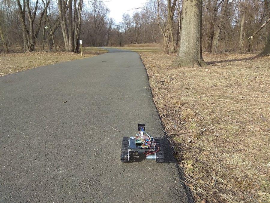 Walkway-Following Robot