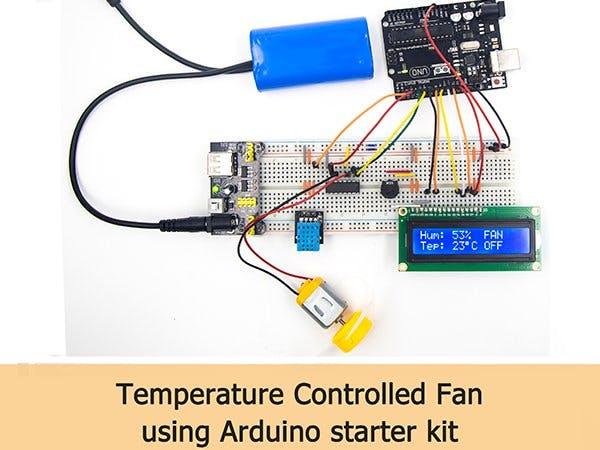 Temperature Controlled Fan Using Arduino Starter Kit