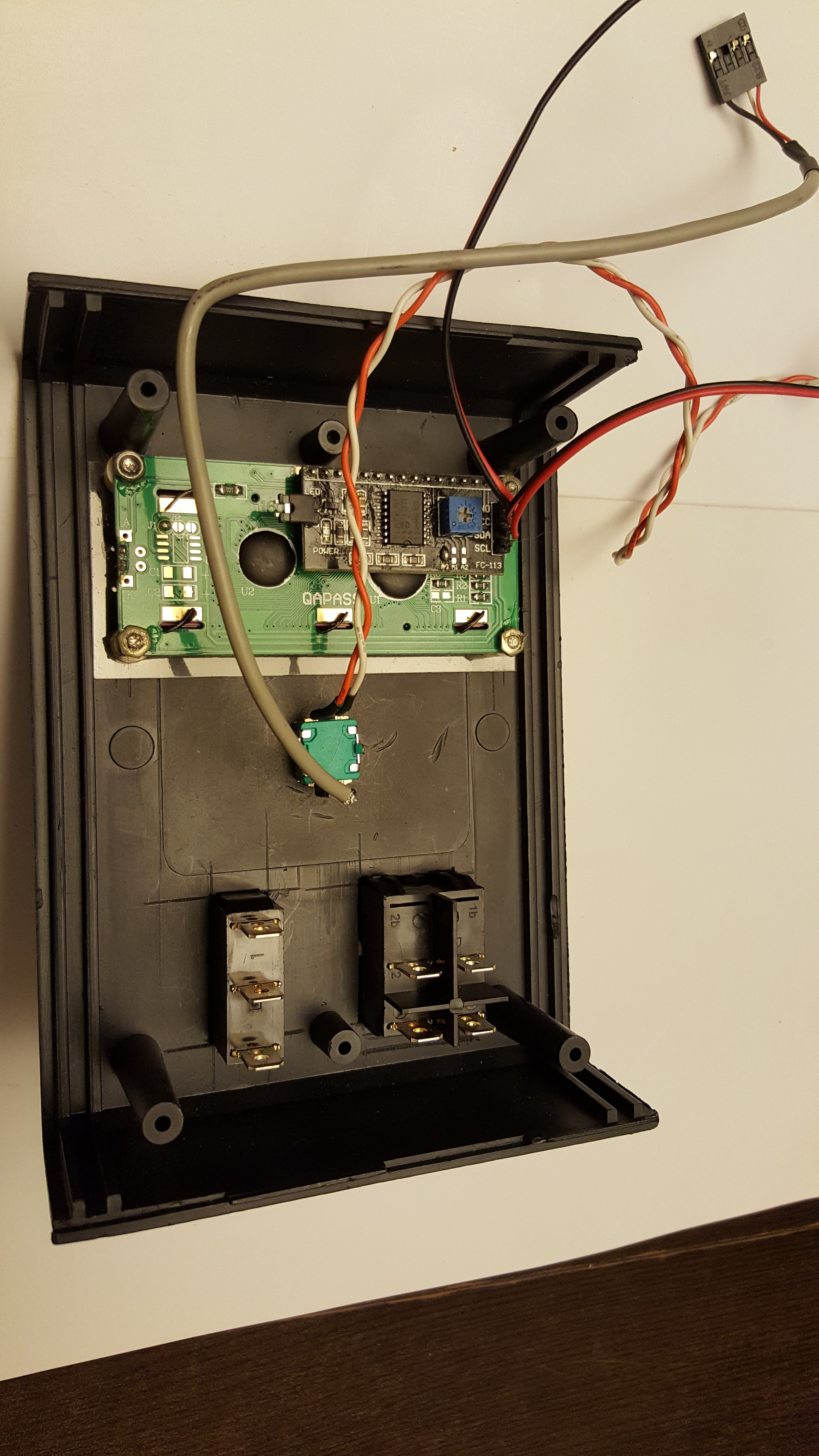 Notice the I2C module on LCD