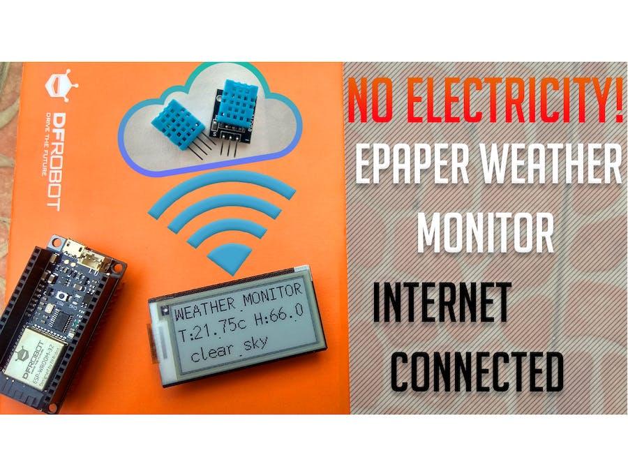 IoT Weather Monitor ePaper Display