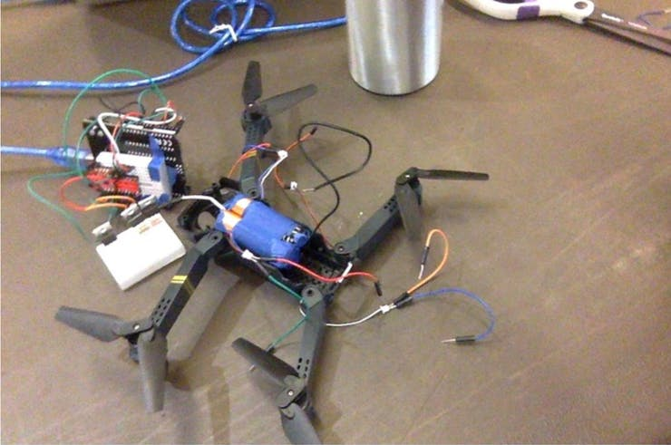 Drones we built that could be controlled by The Glove ( proof of concept)