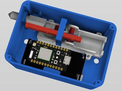 Particle Photon Controlled Gate Lock