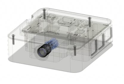 High Performance Passive Cooling Billet Aluminum and Carbon Fiber Raspberry Pi Case Cutaway