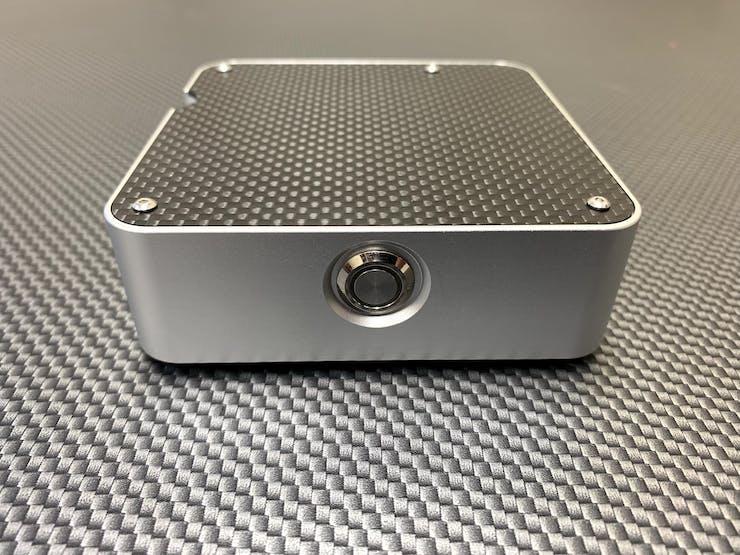 Real Carbon Fiber Top on the MACSBOOST McPi Raspberry Pi Case