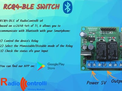 RCQ4-BLE Switch | Bluetooth Communication