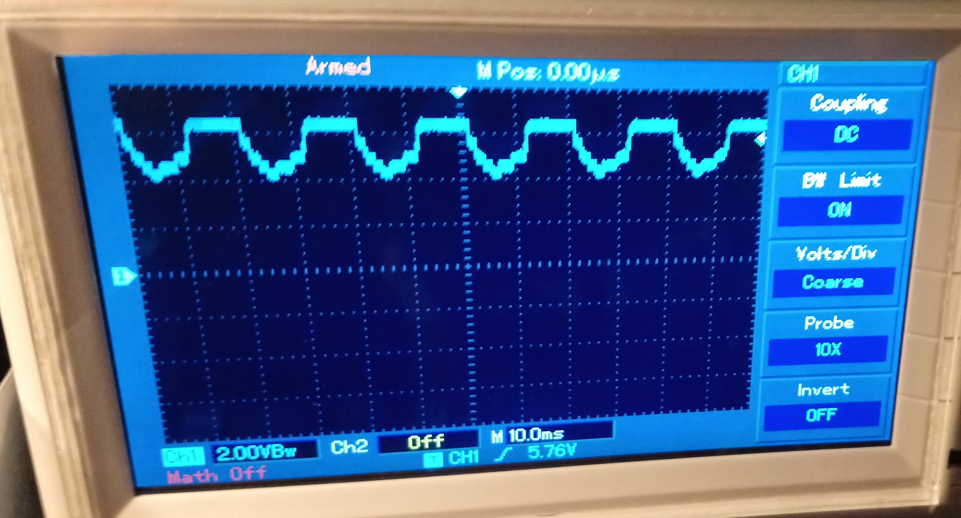Supply voltage fluctuations when a standard servo is operated