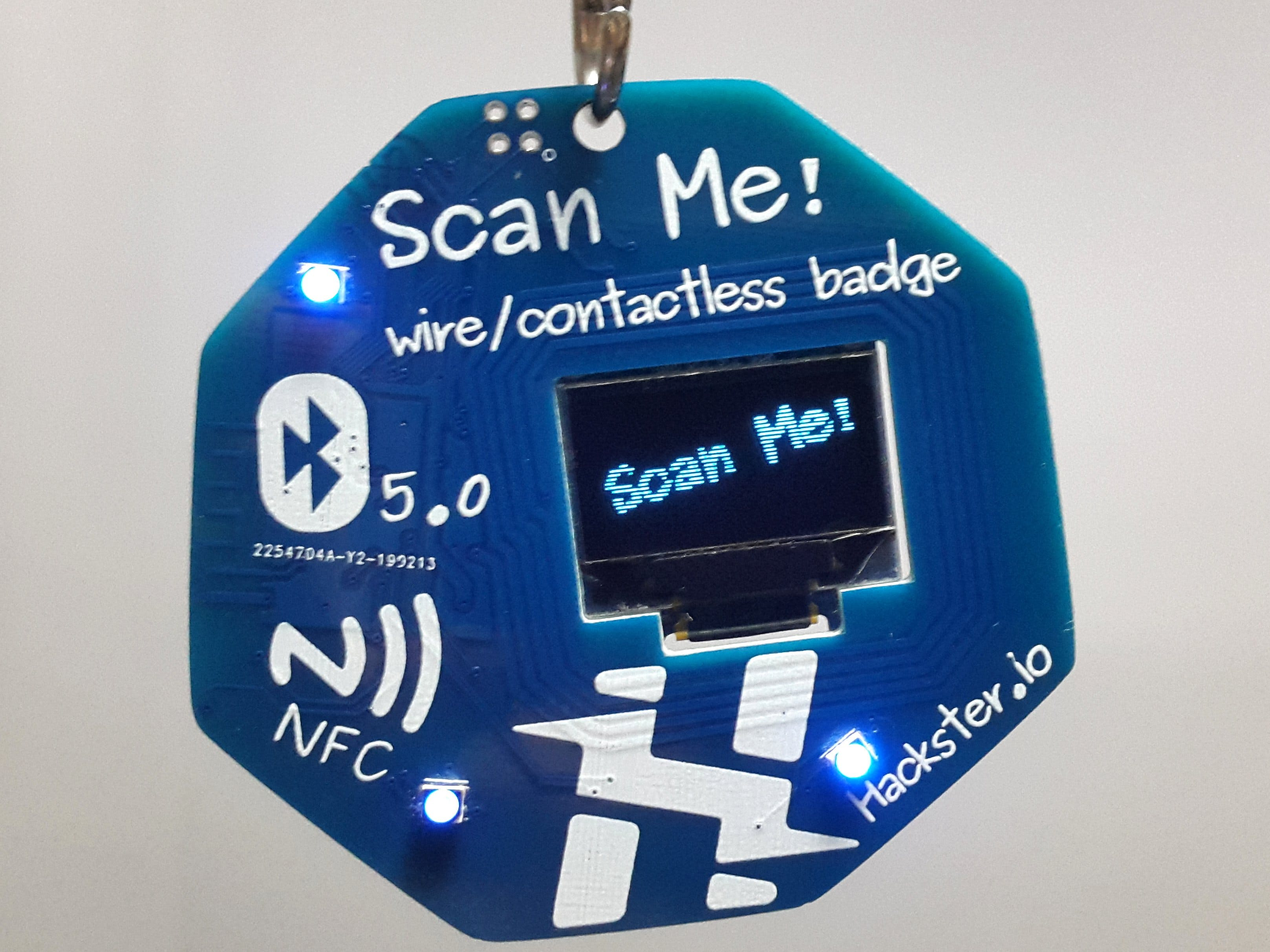 Scan Me! - Wire / Contactless Badge