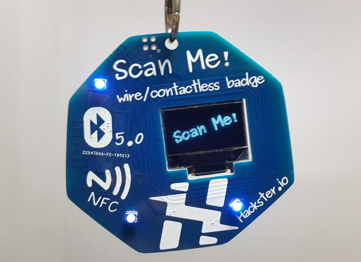 Scan Me! - Wire / Contactless Badge - Hackster io