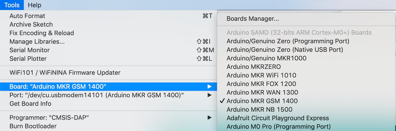 Securely Connecting a MKR GSM 1400 to Google Cloud IoT Core