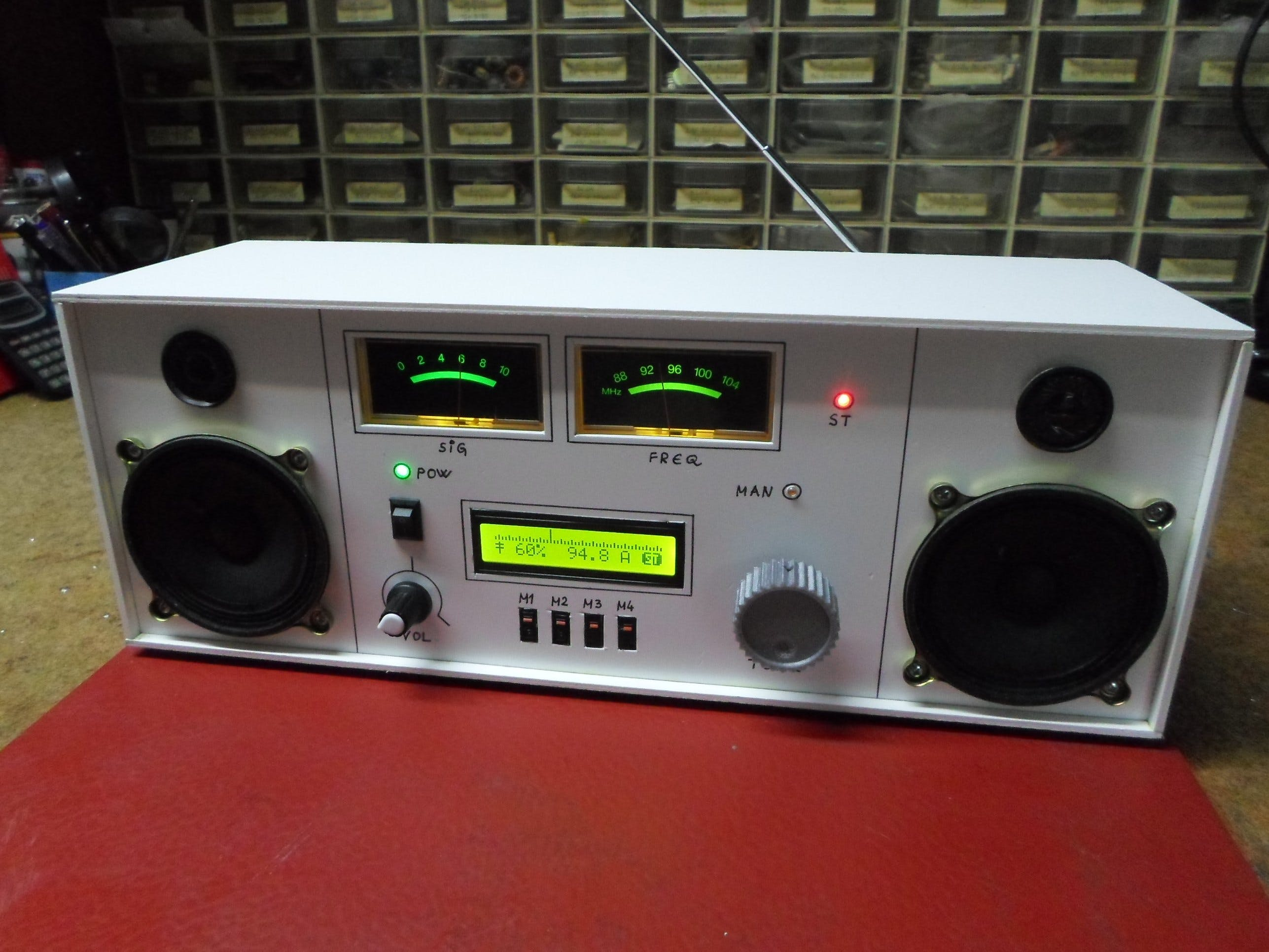 DIY Retro Look FM Radio with TEA5767 Module