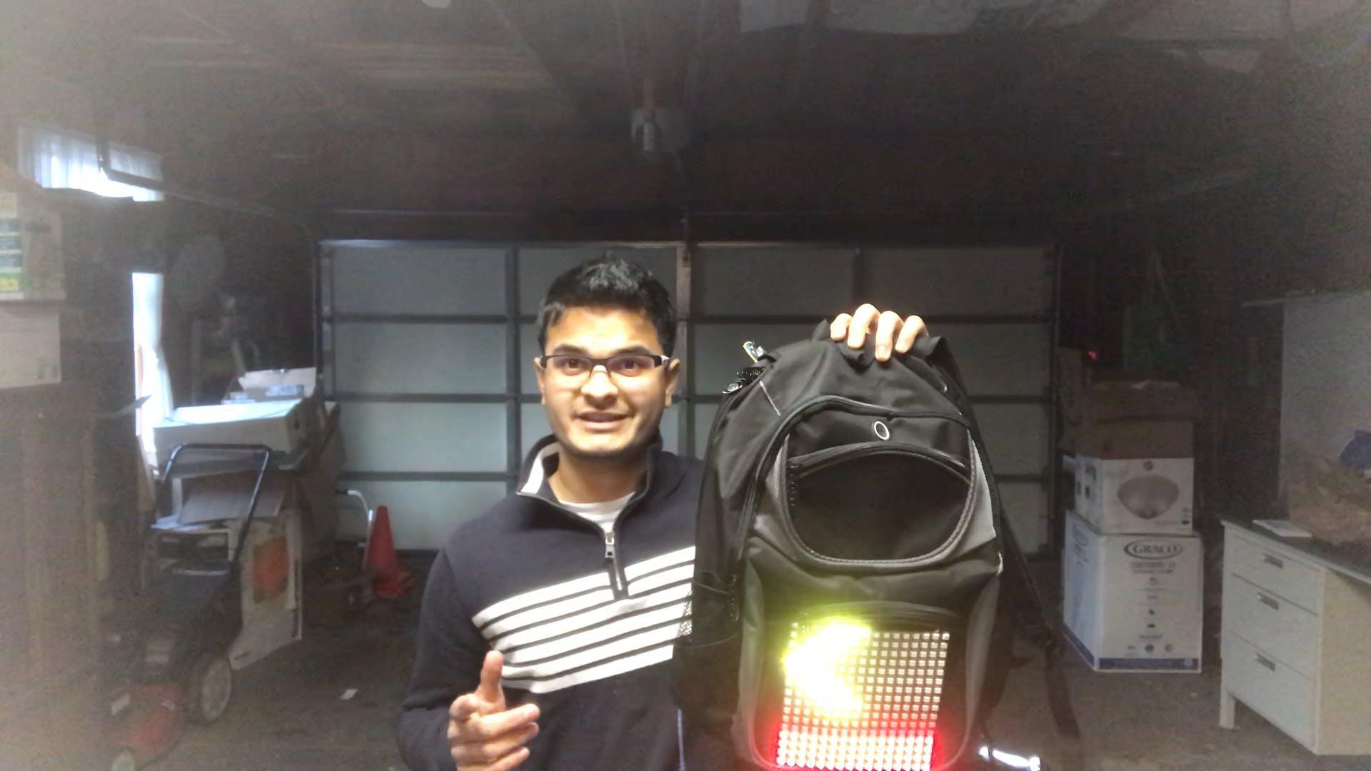 Bike lights attached on a bike