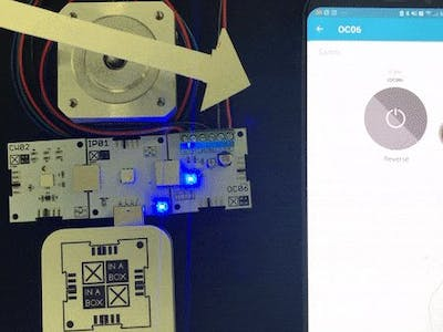 Control a Stepper Motor Remotely Using OC06 and CW02