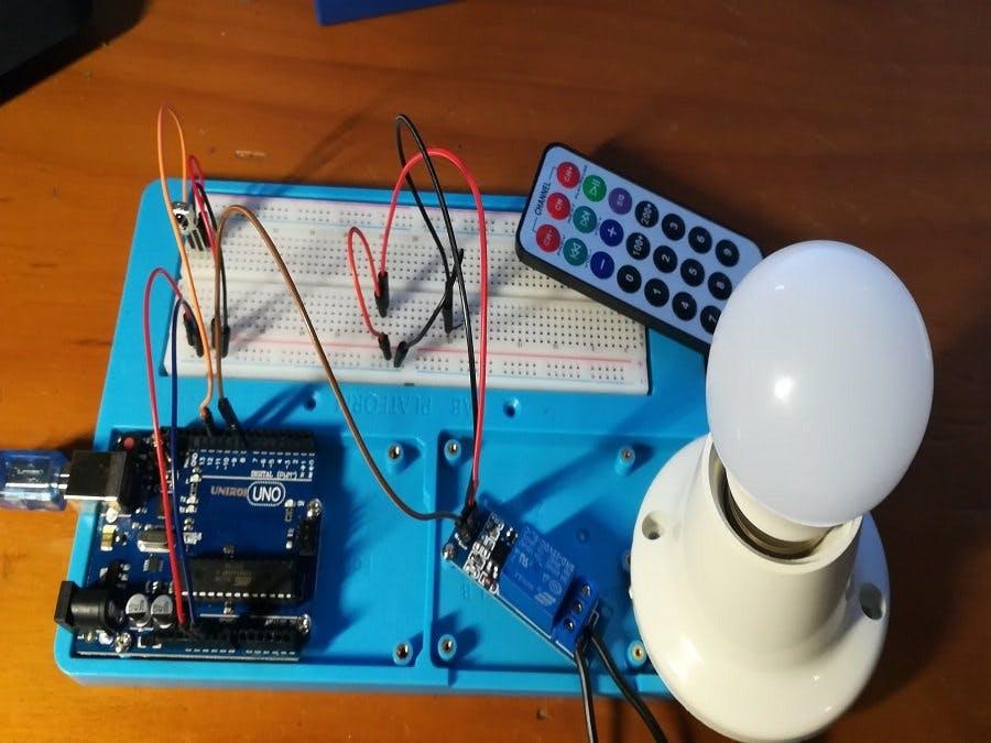 Control AC Light with Arduino, Relay & IR Remote Control