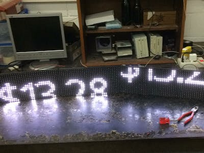 P10 LED Panel Matrix Configured Wirelessly