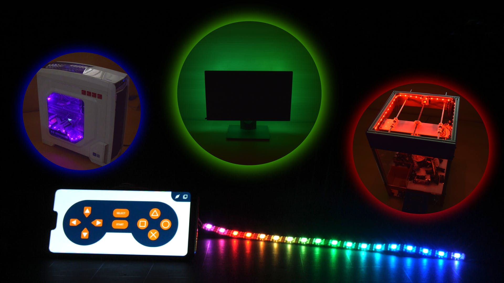 Control the RGB LED Lights Using Your Smartphone