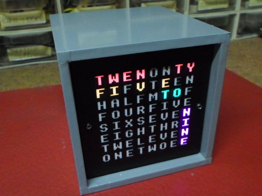 Arduino Word Clock on 8x8 RGB LED Matrix