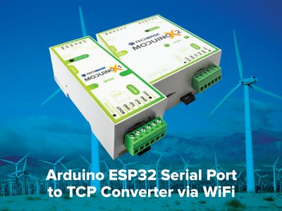 Arduino ESP32 Serial Port to TCP Converter via WiFi