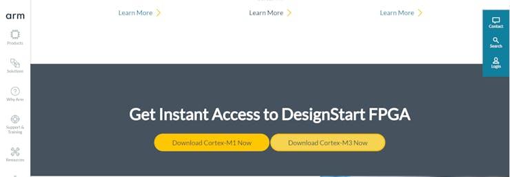 DesignStart FPGA download