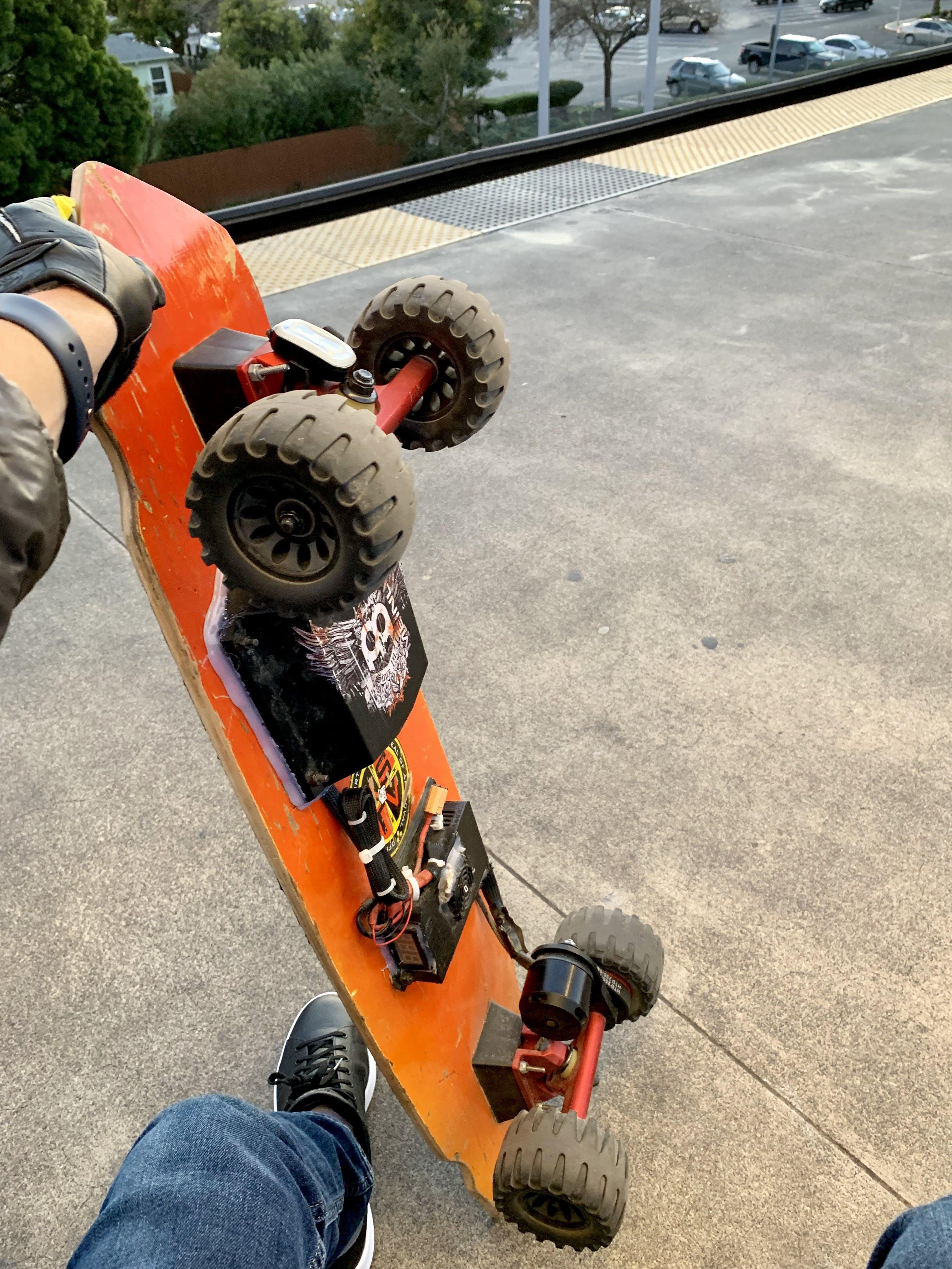 My DIY electric skateboard, 24V, before NeoPixel modification