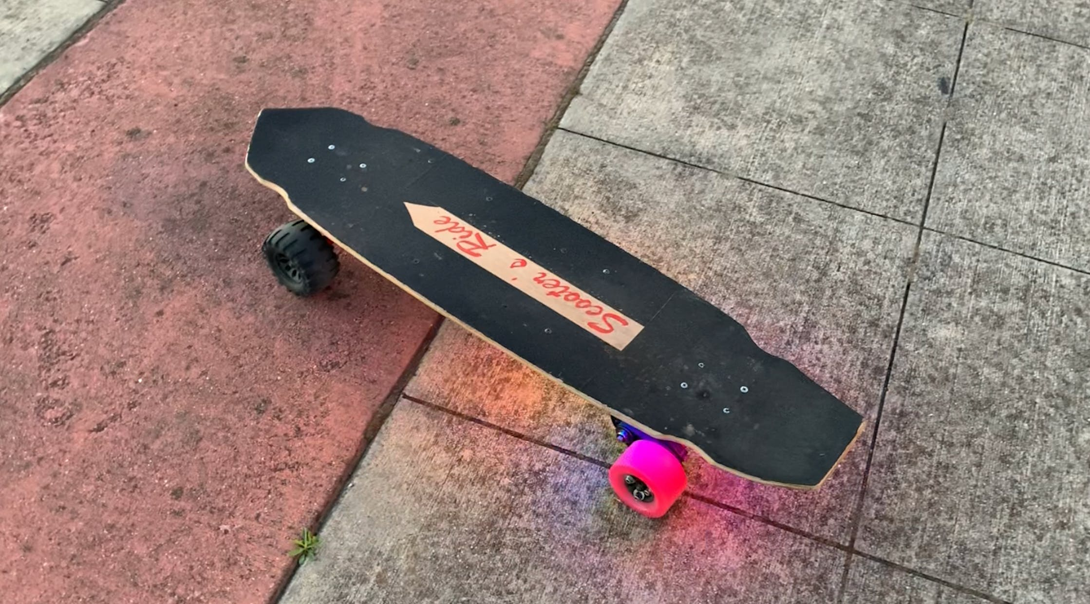 Electric Skateboard post-operation