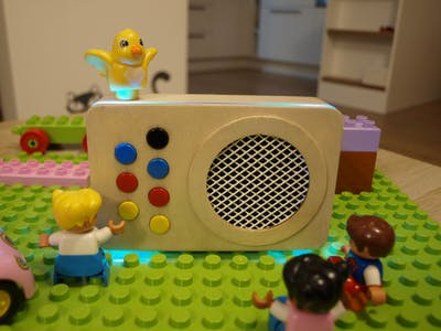 Kids' Wooden Radio