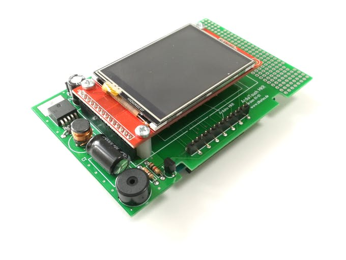 Assembled ArduiTouch MKR PCB