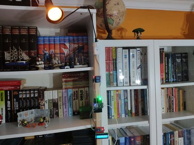 IoT Remote Bookcase Light and Message Panel