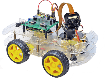 Raspberry Pi Car with FPV Camera Controlled by a Smartphone