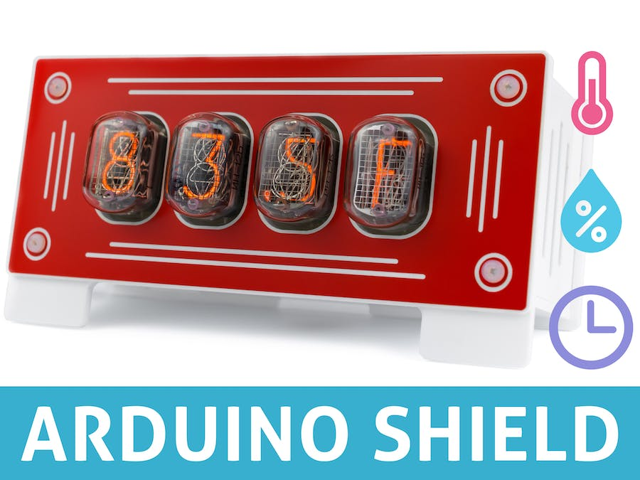 Nixie Clock Thermometer Hygrometer - Shield for Arduino