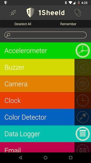 1Sheeld App Setting