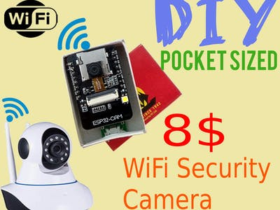 Wireless Security Camera in a Matchbox