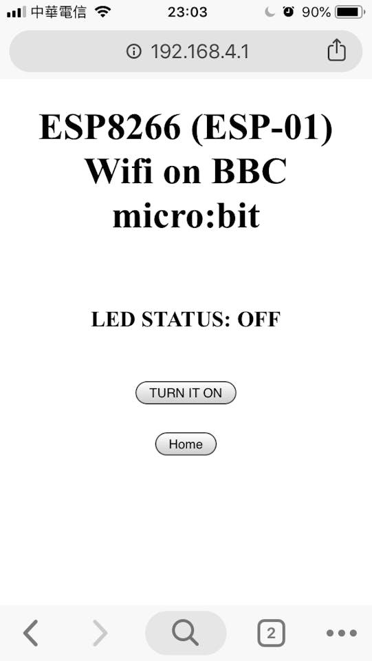 WiFi Web Server on BBC micro:bit and ESP-01 (ESP8266