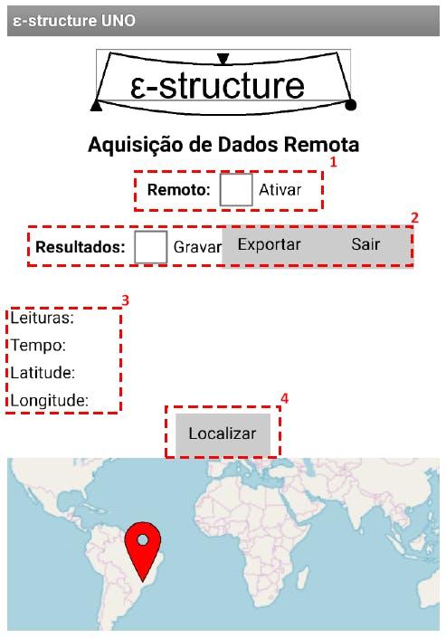 Figure 7 - Remote acquisition screen