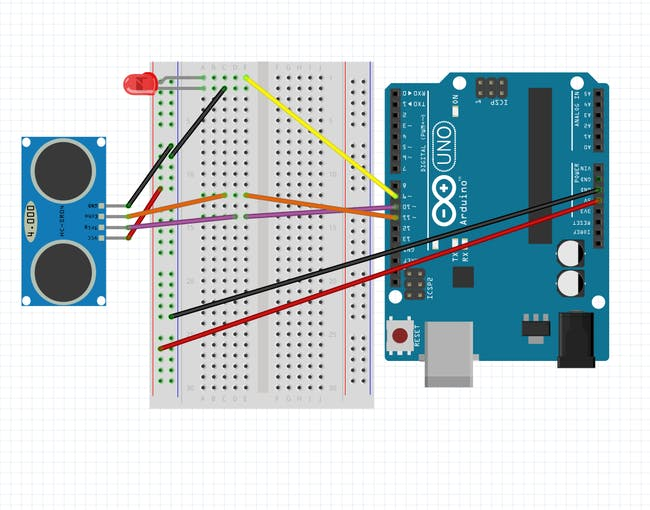 Circuit Diagram for Arduino UNO - Made with Fritzing
