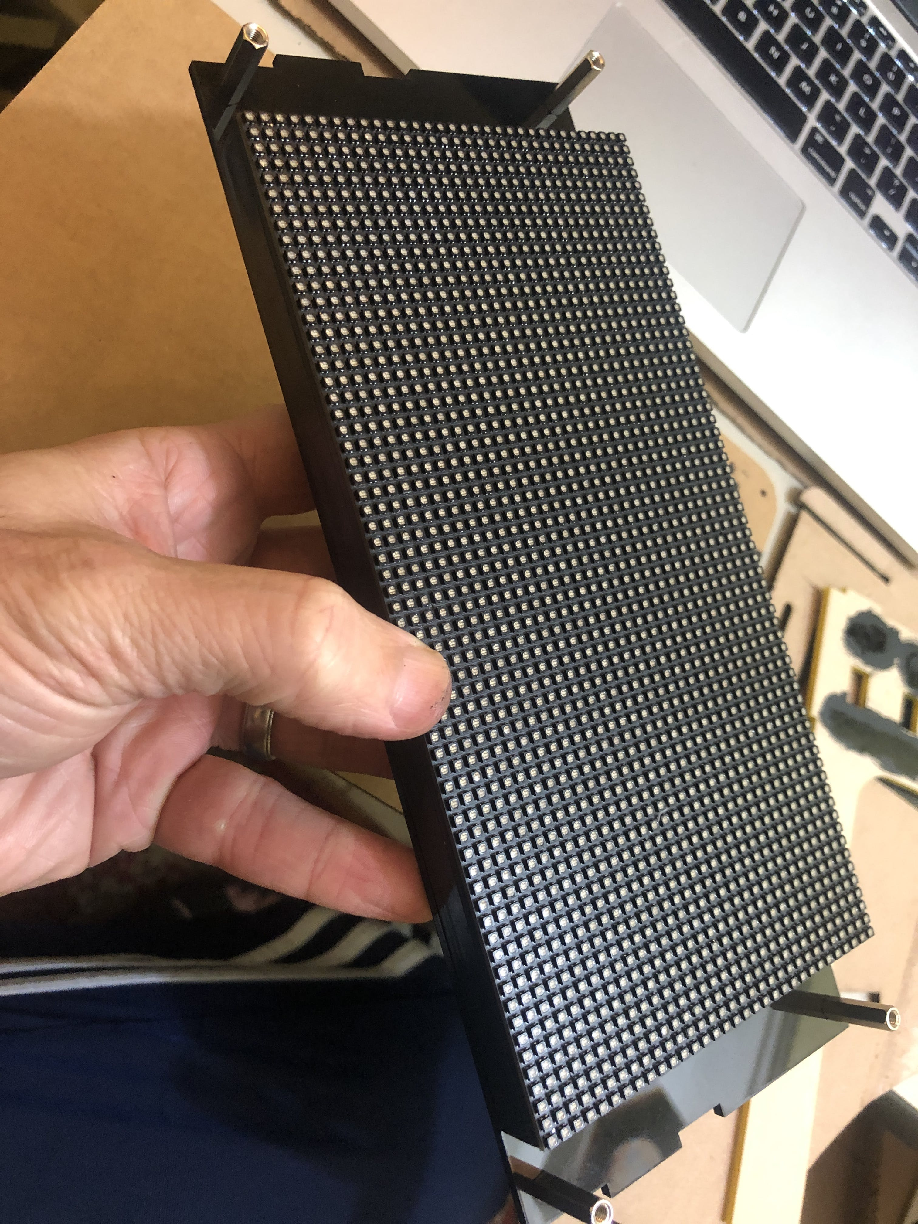 Front side of the LED matrix mounted