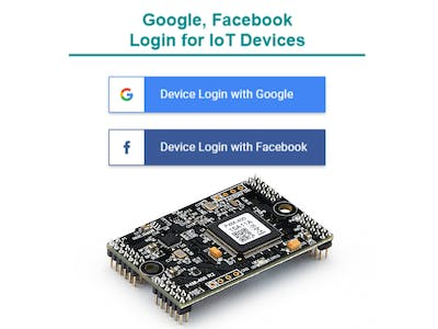 IoT Devices - Login to Google and Facebook via OAuth 2.0