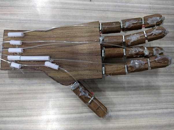 Hand crafted wooden hand