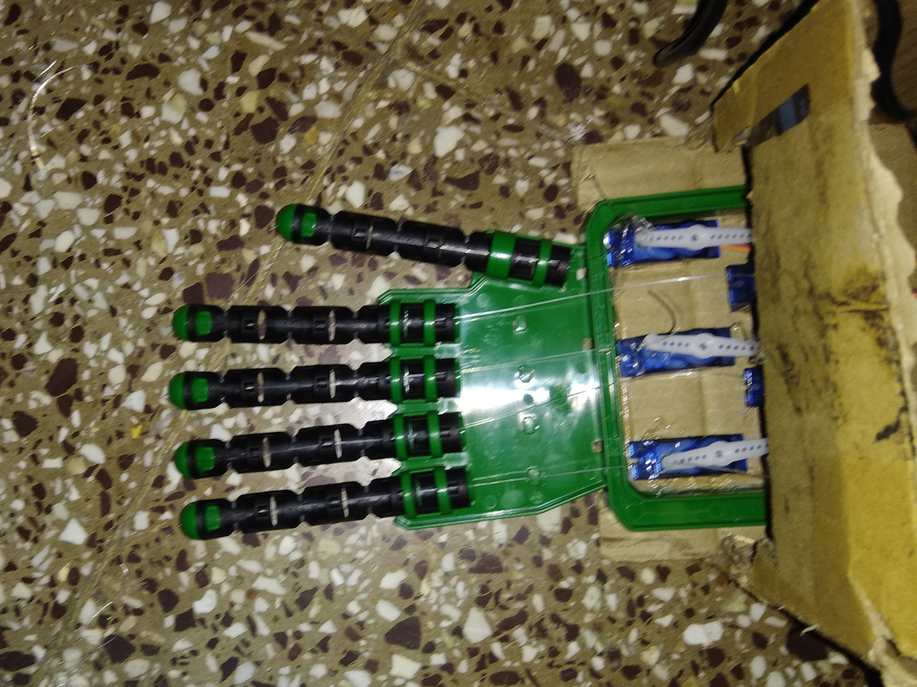 Gesture Controlled Robotic Hand