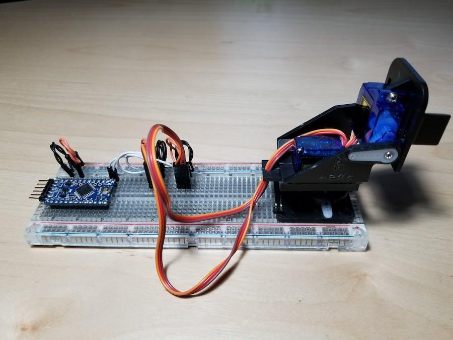 Control Mini-Pan-Tilt Camera Mount with Arduino Pro Mini
