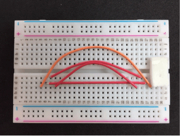 Solderless Breadboard with Connections for USB Breakout