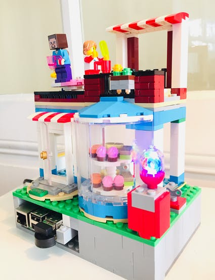 LEGO Weather Station Assembled