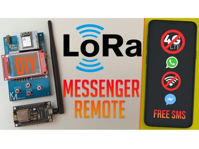 "LoRa Remote Control Messenger with a 1.8"" TFT Display"