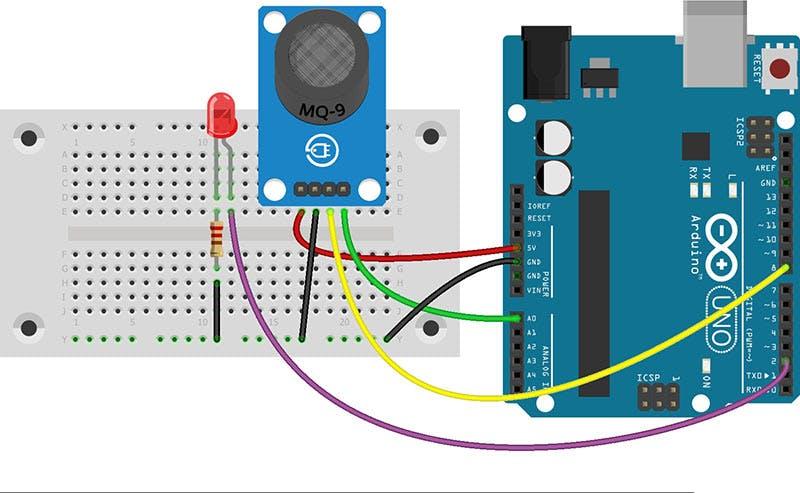 Arduino MQ2 smoke sensor circuit electricalengineering
